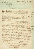 Autographs:Military Figures, Continental Army Officer Clement Biddle Document Signed...
