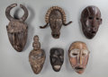 Tribal Art, Six African Masks... (Total: 6 Items)