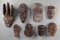 Tribal Art, Eight African Masks ... (Total: 8 Items)