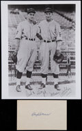 Baseball Collectibles:Others, Lloyd Waner Signed Index Card and Unsigned Photograph....