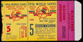 Baseball Collectibles:Tickets, 1956 Don Larsen's Perfect Game New York Yankees vs. BrooklynDodgers World Series Game 5 Ticket Stub. ...