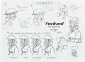 animation art:Model Sheet, Atlantis: The Lost Empire Packard Model Sheet (Walt Disney,2001)....