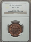 Mexico, Mexico: Republic Centavo 1897-Mo MS64 Red and Brown NGC,...