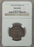 Mexico, Mexico: Republic Centavo 1891-Mo MS64 Brown NGC,...