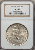 Peru:South Peru, Peru: Republic Sol 1871-YJ MS62 NGC,...