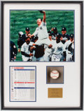 Baseball Collectibles:Photos, 1998 New York Yankees Team Signed Photograph & David WellsSigned Perfect Game Baseball in Shadowbox....