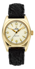 Timepieces:Wristwatch, Rolex Ref. 5011 Steel & Gold Bubble Back, circa 1940. ...