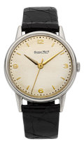 Timepieces:Wristwatch, International Watch Co. Scarce Steel Center Seconds Wristwatch. ...