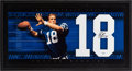 Football Collectibles:Photos, 2000's Peyton Manning Signed UDA Jersey Number/Photograph FramedDisplay....