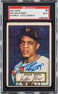 Autographs:Sports Cards, Signed 1952 Topps Willie Mays SGC Authentic. ...