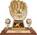 Baseball Collectibles:Others, 1975 Gold Glove Award from The Brooks Robinson Collection....