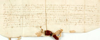 [Featured Lot]. Obligation Bond in the Reign of Henry the Eighth. Manuscript on parchment. Dated May 10, 1532