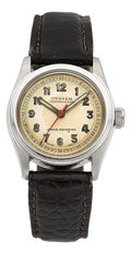 Timepieces:Wristwatch, Rolex Oyster Centregraph Early Steel Wristwatch, circa 1935. ...