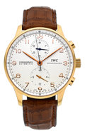 Timepieces:Wristwatch, IWC Ref. 3714 Very Fine Rose Gold Portuguese Automatic Chronograph. ...