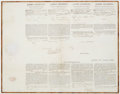 Autographs:U.S. Presidents, James Madison and James Monroe Four Language Ship's Papers Signed....