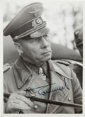 Autographs:Non-American, Erwin Rommel Signed Photograph....