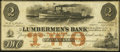 Obsoletes By State:Iowa, Dubuque, IA- Lumbermen's Bank of E.L. Fuller & Co. $2 Sep. 1,1857 Oakes 55-2. ...