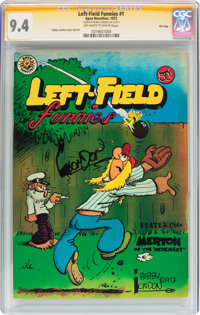 Left-Field Funnies #1 File Copy - Signature Series (Apex Novelties, 1972) CGC NM 9.4 Off-white to white pages