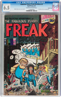 The Fabulous Furry Freak Brothers #1 Double Cover (Rip Off Press, 1971) CGC FN+ 6.5 Cream to off-white pages