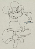 Animation Art:Production Drawing, The Cactus Kid Mickey Mouse Animation Drawing (Walt Disney,1930)....