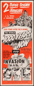 "Movie Posters:Science Fiction, 1000 Years from Now/Invasion USA Combo (American Picture, R-1956).Insert (14"" X 36""). Science Fiction.. ..."