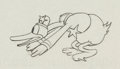 Animation Art:Production Drawing, The Dognapper Donald Duck Animation Drawing (Walt Disney,1934)....