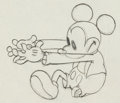 Animation Art:Production Drawing, The Orphan's Benefit Mickey Mouse Animation Drawing (WaltDisney, 1934)....