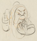 Animation Art:Production Drawing, Snow White and the Seven Dwarfs Sneezy Animation Drawing (Walt Disney, 1937)....