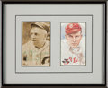 Baseball Collectibles:Others, 1950's Tris Speaker Signed Postcard Display. ...