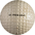 Golf Collectibles:Balls/Tees - Miscellaneous, 1950's President Dwight D. Eisenhower Personally Hit Golf Ball withTee....
