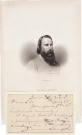 Autographs:Military Figures, Confederate General James Longstreet Autograph Letter Signed....