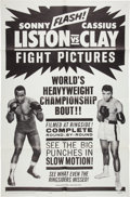 Boxing Collectibles:Memorabilia, 1964 Cassius Clay vs. Sonny Liston One Sheet Movie Poster....