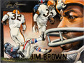 Football Collectibles:Others, 2008 Jim Brown Signed Artwork by Kevin Charles....