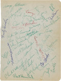 Football Collectibles:Others, 1954 Cleveland Browns Team Signed Sheet....