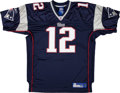Football Collectibles:Uniforms, 2000's Tom Brady Signed New England Patriots Jersey. ...