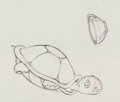 Animation Art:Production Cel, Snow White and the Seven Dwarfs Turtle Production Drawing(Walt Disney, 1937)....