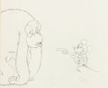 Animation Art:Production Drawing, The Gorilla Mystery Mickey Mouse Animation Drawing (WaltDisney, 1930)....
