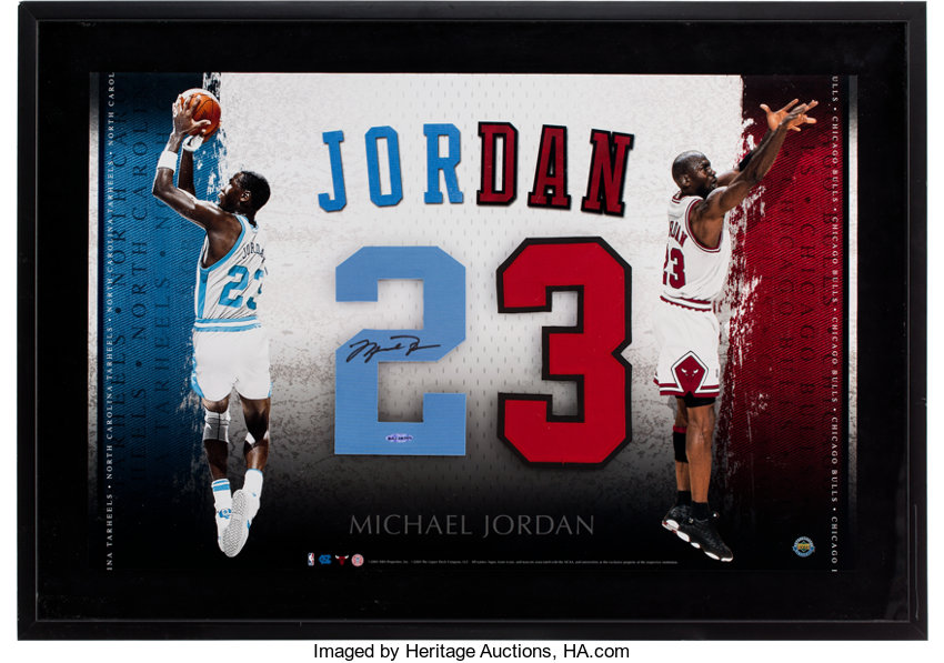 99f60f047fa ... Basketball Collectibles:Others, 2004 Michael Jordan Signed UDA  University of North Carolina JerseyNumber with ...