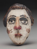 American Indian Art:Wood Sculpture, Malinche / St. Mary's (?) Mask, Mexican. 20th c....