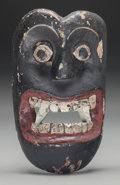 American Indian Art:Wood Sculpture, Devil (Diablo) Mask, Possibly Mexican. 20th c....
