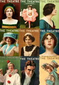 Books:Prints & Leaves, [Periodicals]. Group of Approximately Fifty-Six Front Covers of The Theatre. The Theatre Magazine Co., 1907-1916...