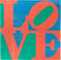 Robert Indiana (American, b. 1928) Italian Love, circa 1995 chrome-dyed, hand-carved tufted archival