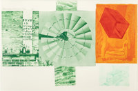 Robert Rauschenberg (American, 1925-2008) Lithograph I (from the Glacial Decoy series), 1979