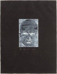 Jim Dine (American, b. 1935) Self-Portrait as a Negative, 1975 Intaglio with etching, drypoint, and