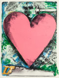 Prints, Jim Dine (American, b. 1935). Heart at the Opera, 1983. Lithograph in colors on Dieu Donné paper. 47 x 35 inches (119.4 ...