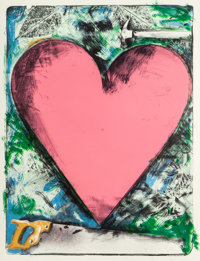 Jim Dine (American, b. 1935) Heart at the Opera, 1983 Lithograph in colors on Dieu Donné paper 47