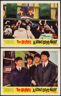 "Movie Posters:Rock and Roll, A Hard Day's Night (United Artists, 1964). Lobby Cards (2) (11"" X14""). Rock and Roll.. ... (Total: 2 Items)"