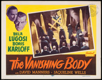 "The Black Cat (Realart, R-1953). Lobby Card (11"" X 14""). Horror. Reissue Title: The Vanishing Body"
