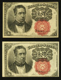 Fractional Currency:Fifth Issue, Fr. 1266 10¢ Fifth Issue Two Examples Very Fine or Better.. ...(Total: 2 notes)