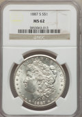 Morgan Dollars: , 1887-S $1 MS62 NGC. NGC Census: (1484/2743). PCGS Population (2034/5115). Mintage: 1,771,000. Numismedia Wsl. Price for pro...